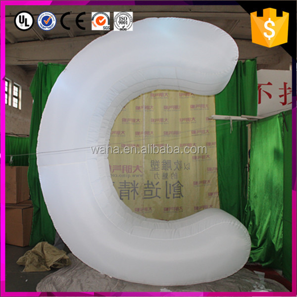 customized new style giant inflatable alphabet for advertising