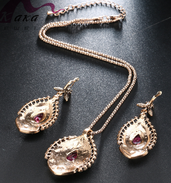 antic women necklace antique gold silver amazon best sale item rhinestone high quality for women
