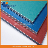 High Quality Standard Acp Sheet Price ,4Mm Brushed Metal Finish Aluminum Composite Panel