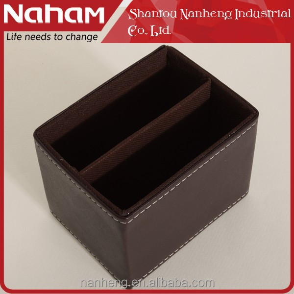 NAHAM General Office Desk Leather Pen Container