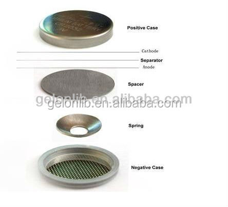 CR2032 coin cell cases (20d x 3.2t mm) with O-rings for Battery R&D