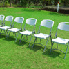 HEAVY DUTY FOLDING PLASTIC STEEL CHAIRS
