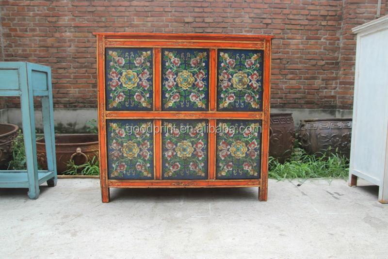 Tibetan Furniture/antique Hand Painted Cabinet   Buy Tibetan Furniture Hand  Painted,Tibetan Wooden Furniture,Hand Painted Doll Furniture Product On  Alibaba. ...