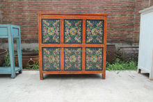 Tibetan furniture/antique hand painted cabinet