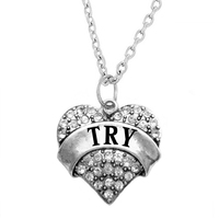 Stamped with Love Inspirational Tri Toned Stamped Charm Plates Chain Necklace