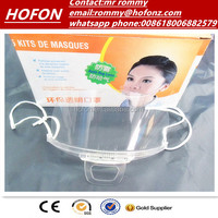 beauty industry clear mask for wholesale plastic transparent face mask in carton