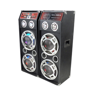 CREATIVE PRODUCT BIG 2*10 INCH LIVE SOUND SUBWOOFER OUTDOOR SOUND SYSTEM STAGE SPEAKERS WITH USB FM RADIO W-167