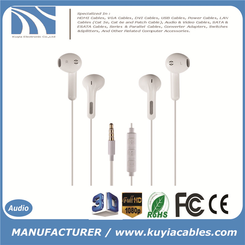 KUYiA Premium Earphone Headphone with Stereo Mic&Remote Control for for iPhone, iPad, iPod, Samsung Galaxy, MP3 Player