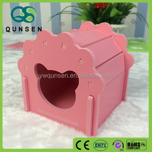 colorful ceramic hamster log cabins wooden house