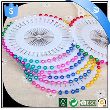 paper quilling special colorful pearl head straight hijab pins