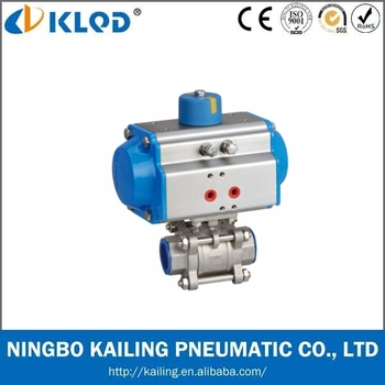 3 pcs pneumatic ball valve/ Pneumatic Stainless Steel Ball Valve