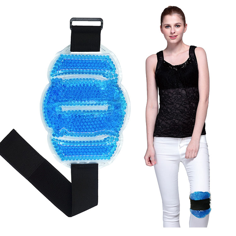 New Style Comfort Blue Pearl Therapy Gel Beads Ice Pack For Knee