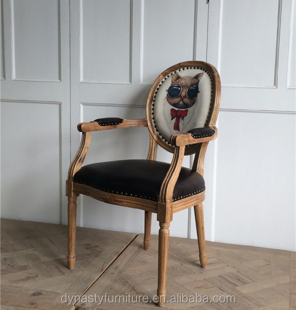 Wholesale antique furniture comfortable <strong>leather</strong> armchair