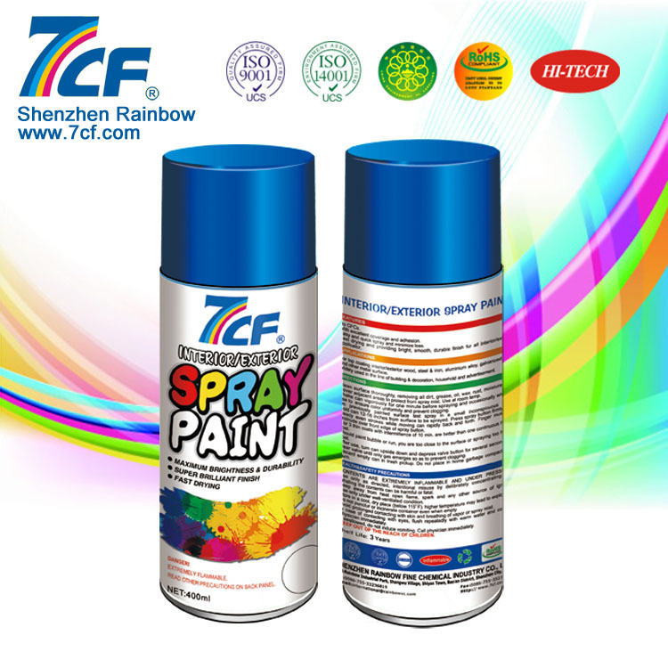 Acrylic Aerosol Colorful Plastic Dip Rubber Spray Paint