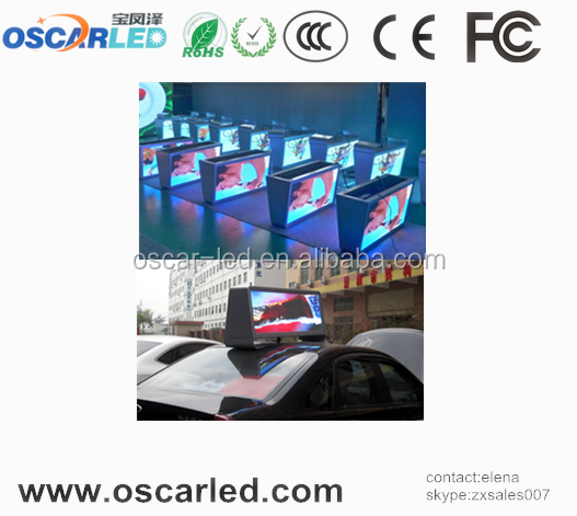 Hot sale on Alibaba mobile video ads for taxi, 3G system waterproof