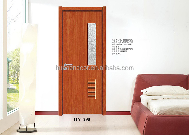 Interior mdf pvc door with louvers