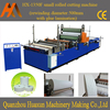 Automatic embossed small bobbin tissue slitting rewinding maxi roll toilet paper machine
