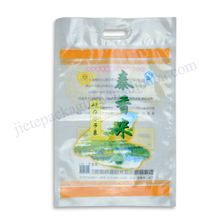 HDPE pe poly vacuum thai rice bag 4kg with plastic handle
