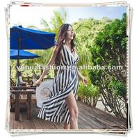 Back open V-neck Korean Style Halter Chiffon Beach Dresses