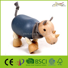 3D Rhino Craft Animal Made of Wood for Kids Education Wooden Toy