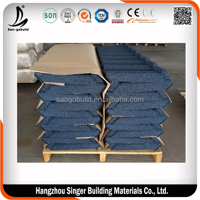 Building Materials Roof Tiles, Classic Type Red Color Stone Coated Steel Roof Tiles