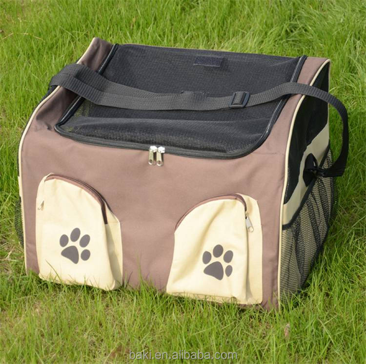 Fashionable Dog Bags Pet Car Booster Seat Dog Carrier Travel