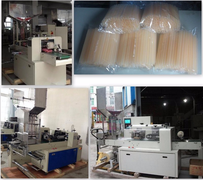 High speed automatic horizontal flow packing machine for multiple disposable sraws
