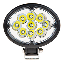 27W Oval LED Work Light Offroad Car Auto Truck ATV Motorcycle Trailer Bicycle 4WD 4x4 Fog Lamp Driving Headlight Spot Flood