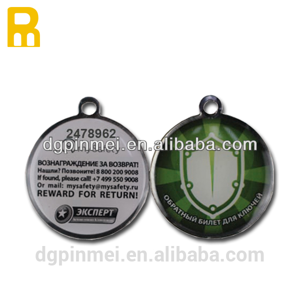 Qr code metal dog tag/pet ID tag with serial number