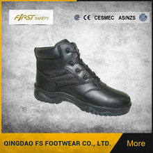 FS3001 High Quality Black Men Full Grain Leather Army Military Boots