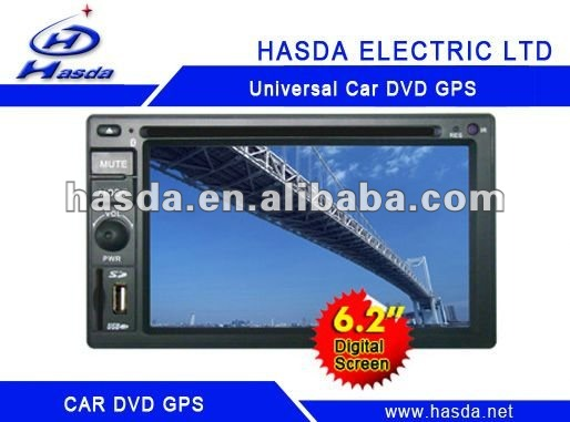 Universal half din car dvd player with usb