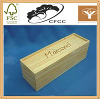 Trade assurance china supplier single wooden wine box/one bottle wooden box