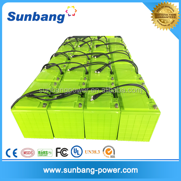 deep cycle rechargeable solar energy storage lifepo4 battery 24v 200ah