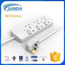 Modular 13amp outlet ac 3 pin extension plug cable insert multi function vertical electric switch socket