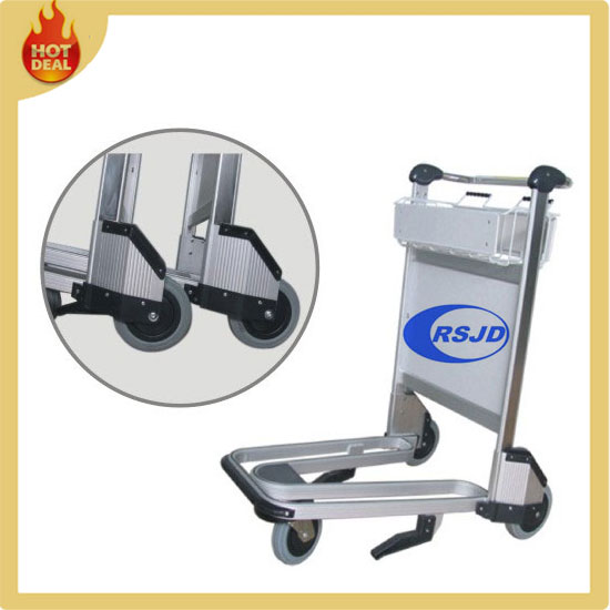 3 wheels aluminum luggage trolley parts for airport