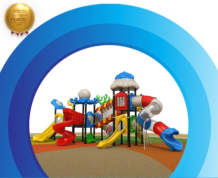 Top Quality Ocean Series Children Used Playground Equipment, Child Safety plastic slides for Sale.