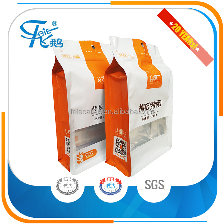 wholesale food grade custom plastic Packaging Bags for paper packing pouch for food