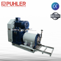 Puhler Double Mechanical Seal Ex Proof Nano Mold Steel Grinding Cylinder & Disc Horizontal Bead/ Sand Mill / Nano Mill