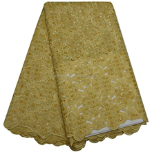 Big Heavy African Lace Fabrics/Swiss Voile Lace With Stone/ Africa Cotton Laces 0307-3