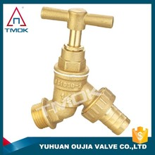 quarter turn on Made in China DN15 DN20 nature surface or polished /nickel plated brass water tap bibcock filter