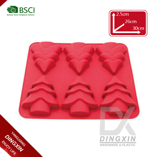 Non-smell silicone ice cube tray and mold