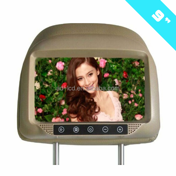 9 inch car monitor taxi Headrest LCD Advertising Player