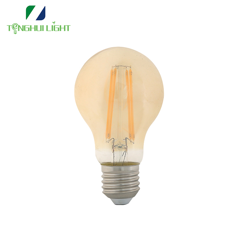 ce/gs/erp e27 6w a60 gls dimmable led filament <strong>bulb</strong>