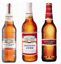 A mber beer glass bottle Customize Decal Logo Hot Stamping Superior Glass Liquor Bottle