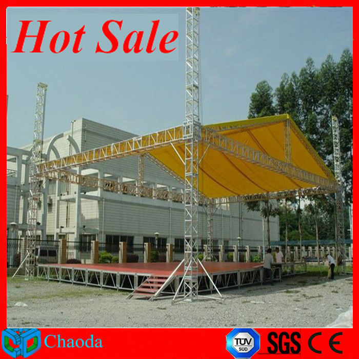 Hot sale Guangzhou China Cheap CE,SGS ,TUV cetificited steel truss system stage truss canopy
