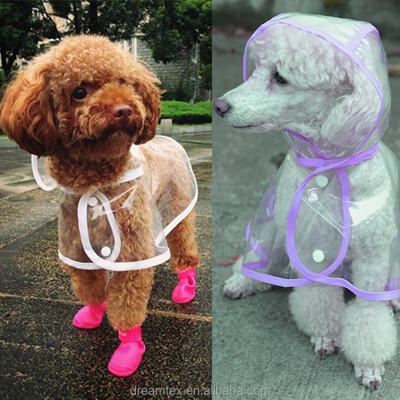 Hot sale cartoon dog clothes pet accessory dog raincoat