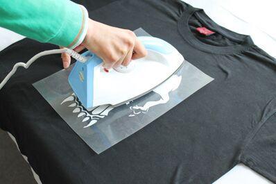 Heat Transfer Iron On T Shirt Glitter Vinyl Film Fabric