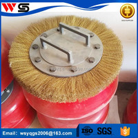 brass round wire brushes for nature gas pipeline