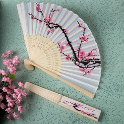 Cherry Blossom Flower Silk Hand Fans Wedding Favors