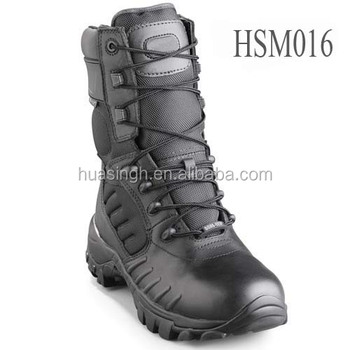 insulated lining cold weather army security guard force military boots Bates brand